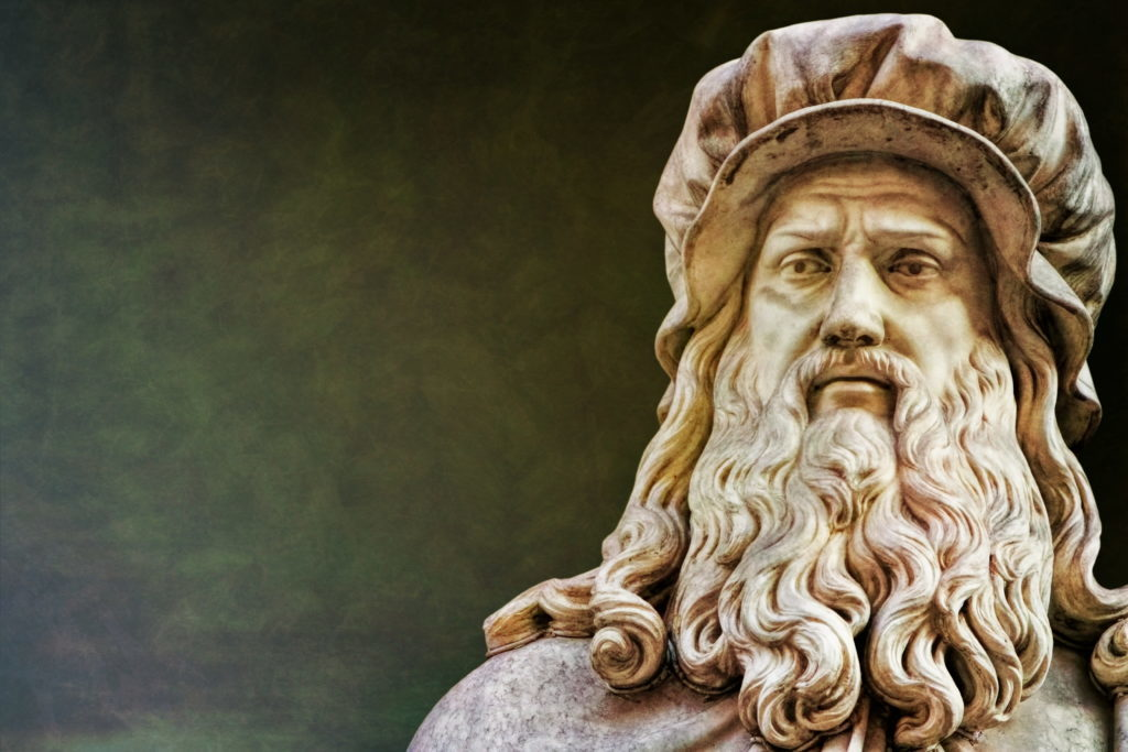 En la foto aparece la escultura Florenz de Leonardo Da Vinci