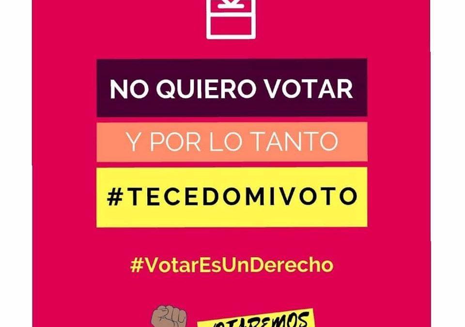 #TeCedoMiVoto | La opción de voto para los que no tienen ese derecho