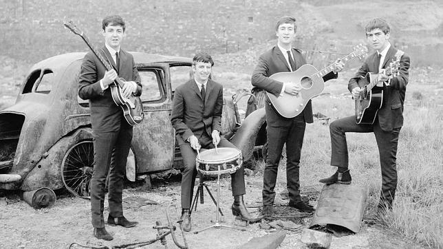 Foto de los Beatles en sus inicios